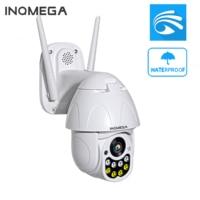 INQMEGA PTZ Speed Dome IP Camera WiFi 1080P 2MP Outdoor Wireless CCTV Security Surveillance Waterproof Camera ONVIF IR YOOSEE