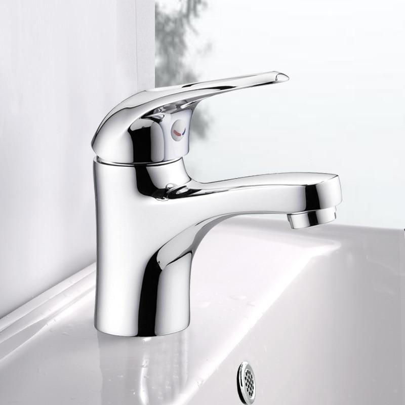 Kitchen bathroom, copper faucet, single hole basin faucet , cold and hot faucet, cold and warm basin head wx5111155