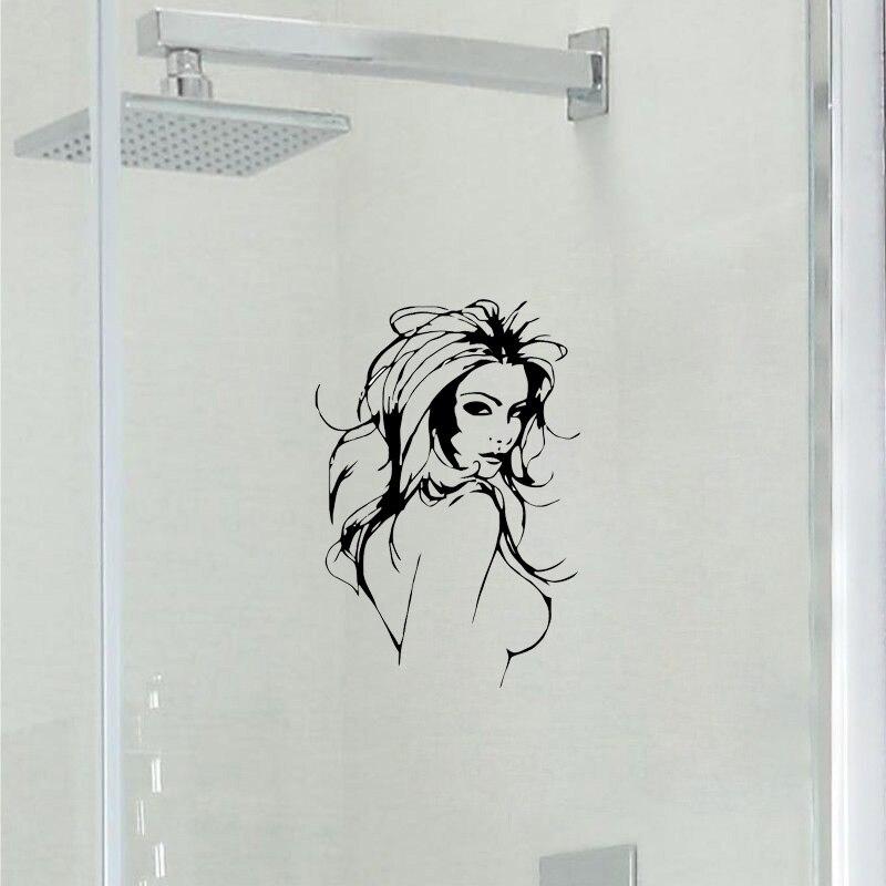 Модные, пикантные Обувь для девочек Ванная комната туалет Стекло двери виниловые наклейки 2ws0070