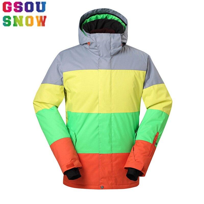 GSOU veste de Ski de marque neige hommes veste de Snowboard imperméable Sports de plein air d'hiver combinaison de neige Ski Snowboard randonnée costume masculin