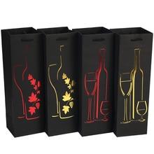 Túi Giấy Rượu Tàu Sân Bay Tiệc Lễ Hội Tặng Túi Nơ Tay Cầm Hot Dập Rượu Lọ Tinh Dầu Tặng Champagne Quy Cách Đóng Gói túi