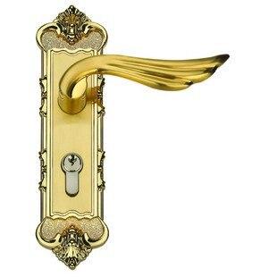 Wholesale- Zinc Alloy Lever Handle door lock Free Shipping door handles wholesale price theft whole zinc alloy handle door panel