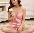 Smmoloa silk sleepwear 2pcs soft silky nightgown sexy  silk nighties pants  silk pajama sexy lingerie