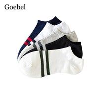 Goebel Для мужчин следы дышащая Повседневное мужские короткие носки с открытым носком полосой лодка Носки для девочек для человека 2 пар/лот