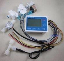 Бесплатная доставка RO чистой воды фильтр контроллера дисплея + электромагнитный клапан + + датчик расхода + TDS