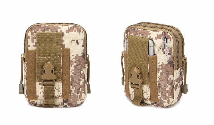 Topdudes.com - Camouflage Small Square Waist Phone Bag