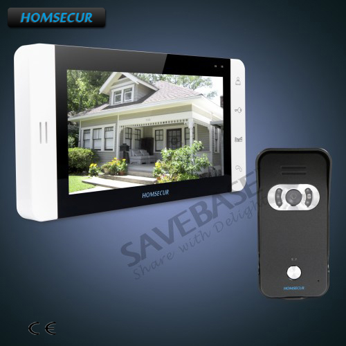 HOMSECUR 7 Video Door Entry Security Intercom+Black Camera for House/Flat+Transportation from RU