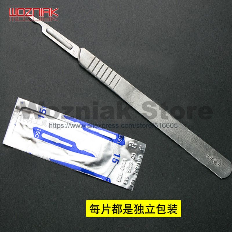 Special fingerprint knife 15c blade for iPhone 7 7p 8 8p x home button Clear IC chip glue Mobile phone repair knife