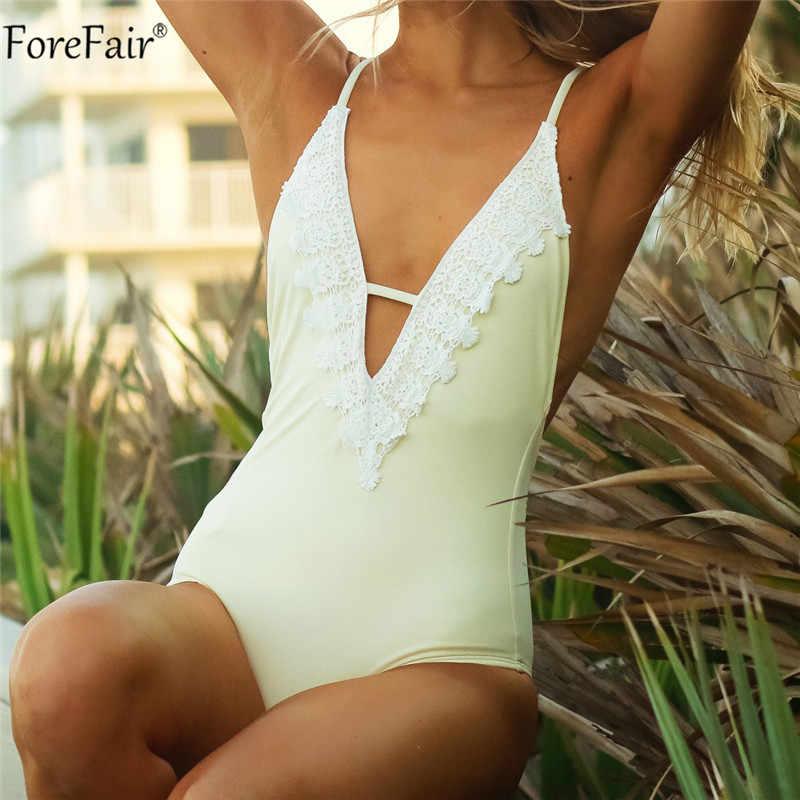 ForeFair Сексуальное Кружевное боди, женский комбинезон с открытой спиной повседневное летнее боди с v-образным вырезом пляжный выдалбливающийся розовый черный женский комбинезон