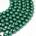 Fashion imitation shell pearl peacock green 4-14mm round vintage fit for diy elegant necklace bracelet loose beads 15inch B1607