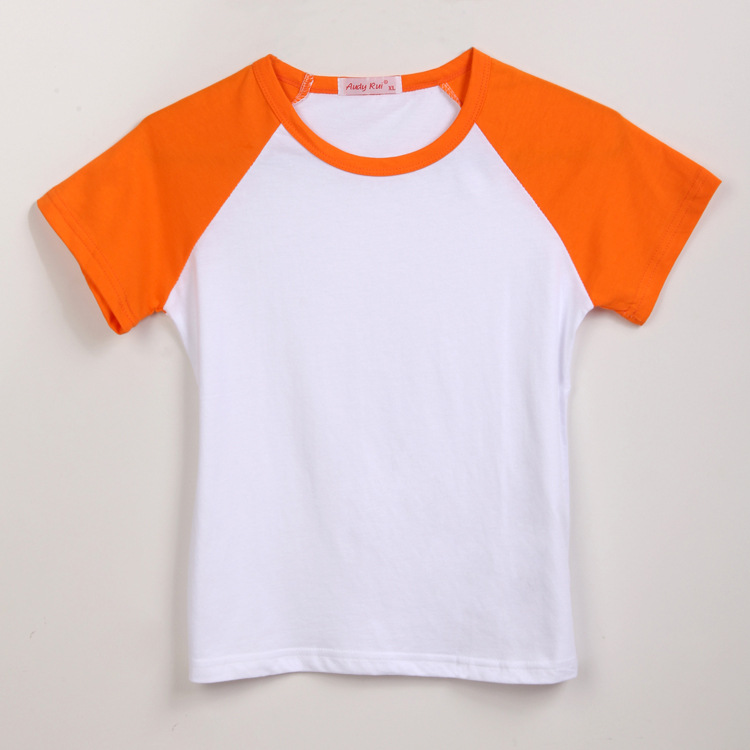 Aliexpress.com : Buy Kid's plain blank orange and white organic ...