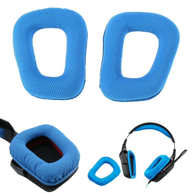 1Pair Replacement Earpads For Logitech G35 High Quality Cushions For Logitech G430 Ear Pads Headphones Earpad Cover For G930 G35