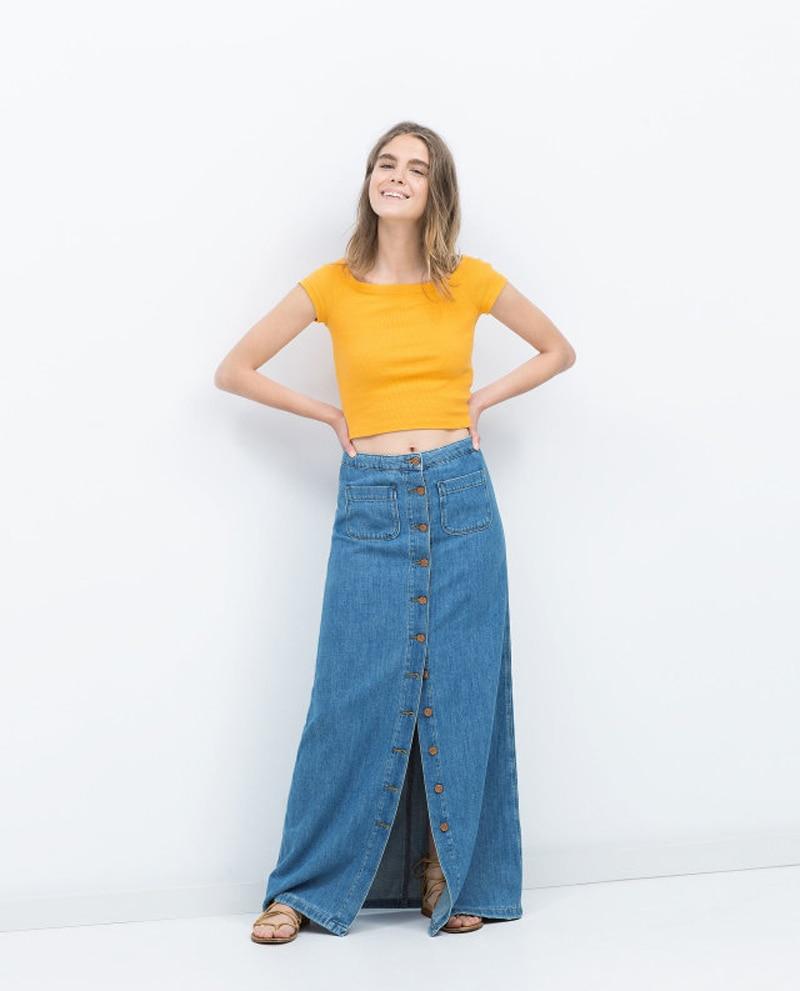 Online Buy Wholesale denim maxi skirt from China denim maxi skirt ...
