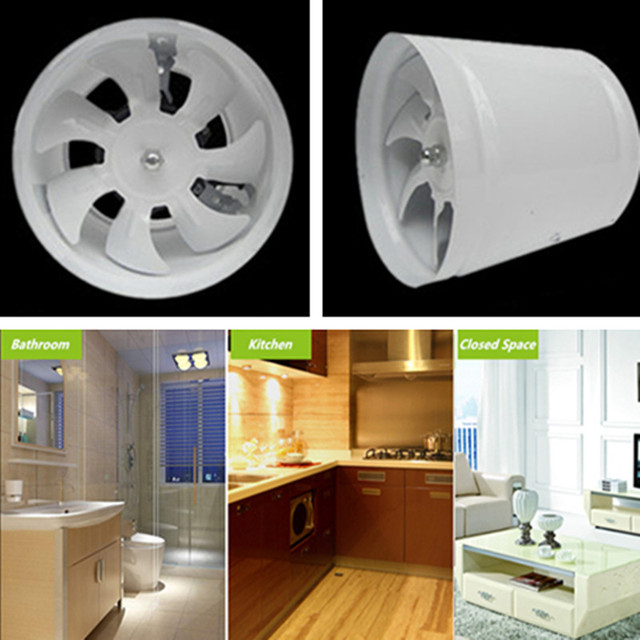 8inch High Sd Energy Saving Low Noise Household Inline Duct Fan Fume Exhaust Kitchen