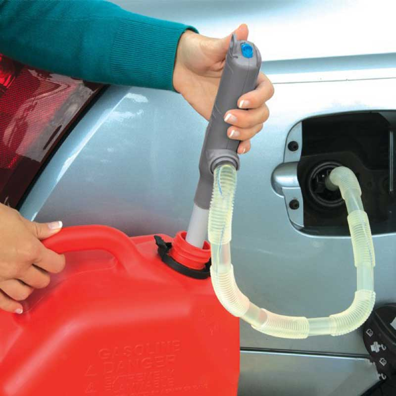 Liquid Transfer Pump Handheld Pump Battery Operated Liquid Transfer Water Gas Tools Petrol Fuel Portable Car Siphon Hose Outdoor
