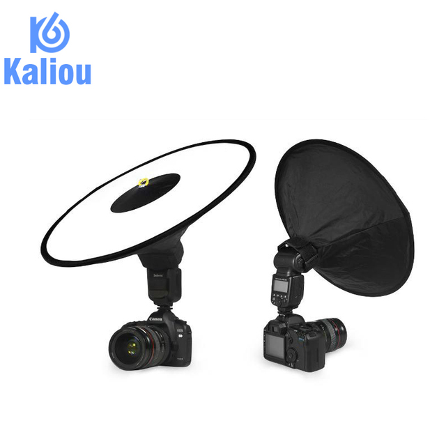 Kaliou 44cm Round Cone Universal Portable Speedlight Softbox Soft Box Flash Diffuser On-top Soft Box for Camera Photo Studio