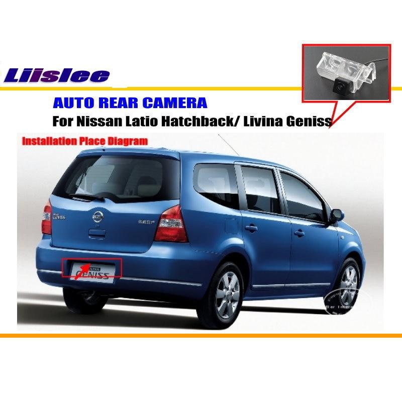 Liislee для Nissan Latio хэтчбек/Livina Geniss-камера заднего вида/камера заднего вида NTST PAL/лампа для номерного знака OEM