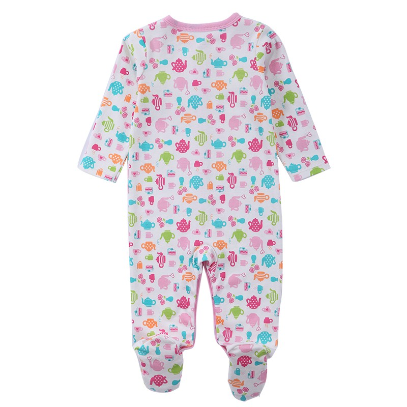 2016 New Brand Spring Summer Baby Rompers Pajamas Boys Girl Clothes Cute Monkey Newborn Jumpsuits Infant Clothing Sleepwear
