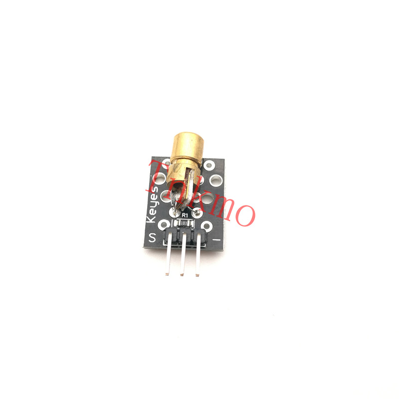 10p KY-008 650nm Laser Sensor Module 6mm 5V 5mW Red Laser Dot Diode Copper Head for arduino Compatible with UNO MEGA 2560 KY008 150mw 650nm focusable red laser diode module dot diameter 16mm xlength60mm