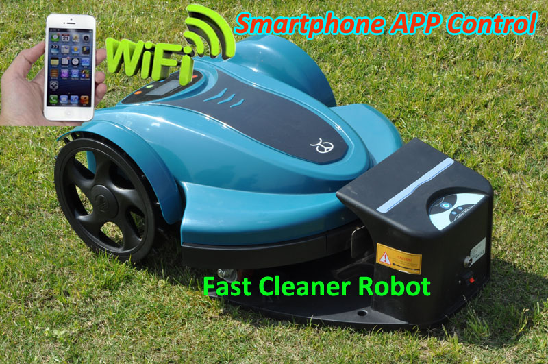 The Cheapest Lead acid Battery Robot Lawn Mower TC-158N With Newest Smartphone WIFI App And Water-proofed Charger
