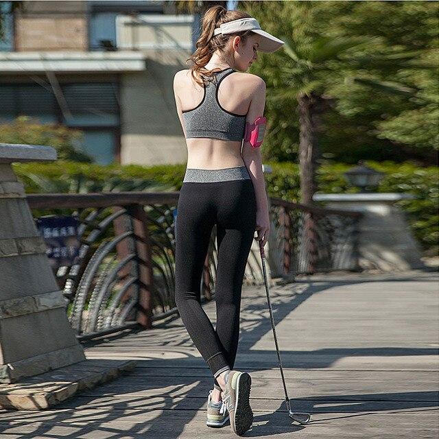 Papa Chen Marque Femmes Serré Sport Porter Belle Leggings Haute Élastique  Mince Sport Yoga Jogging Pantalon 35622aa3609