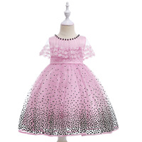 Flower Girls Dress Polka Dots Child Wedding Pageant Sleeveless Summer Princess Party Dress Children Size 3 To 11 12 Years