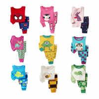 Förderung kinder pyjamas set Kinder Cartoon nachtwäsche Jungen Hause pyjamas mädchen baumwolle süße tier pyjamas 2-7T nachtwäsche