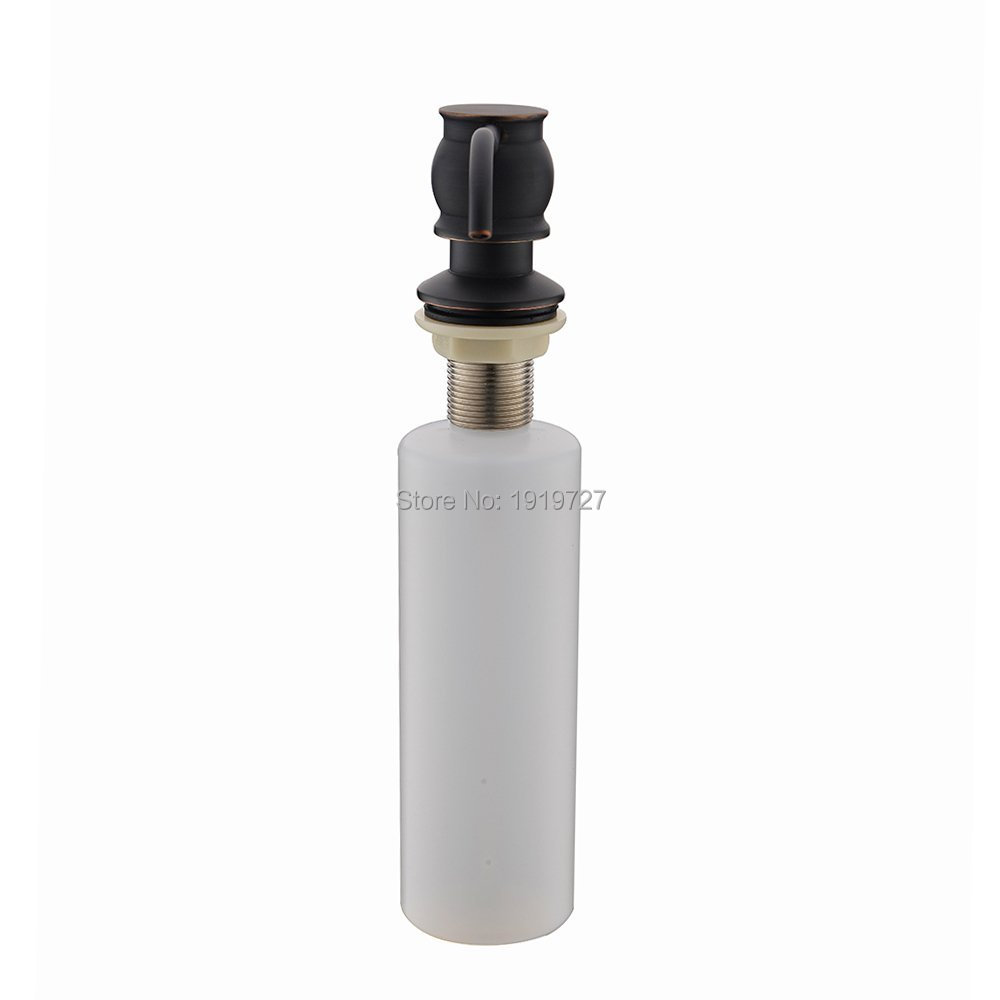 Image 4 - New Classic Vintage Antique Brass Deck Mount Oil Rubbed Bronze Kitchen Sink Countertop Bounce Liquid Under Sink Soap Dispenser-in Liquid Soap Dispensers from Home Improvement