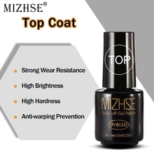 MIZHSE, грунтовка для ногтей, гель, верхнее покрытие, УФ светодиодный, Гель-лак для ногтей, уплотнитель, дизайн лака для ногтей, топ без клеевого слоя, не протирается, УФ светодиодный