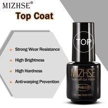 MIZHSE Nail Primer Gel Top Coat UV LED Gel Polish Sealer Nail Polish  Design Top Without An Adhesive Layer No Wipe Nail UV LED