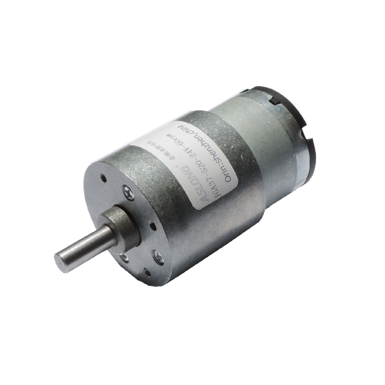 JGA37-520 DC 12V 24V deceleration motor motor center axis 14RPM 400RPM