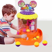Mini Coin Operated Games Arcade Game Machine Kids Xmas Gifts Music Electronic Claw Crane Ball Catcher Toy Candy Grabber Machine