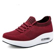 SWYIVY/Женская обувь на танкетке; обувь для похудения; коллекция года; сезон весна-осень; Новинка; Тонизирующая обувь; женские кроссовки на платформе; спортивная обувь для похудения