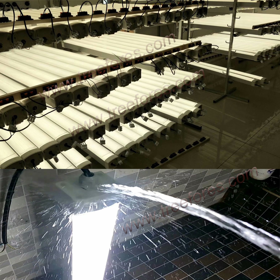 US $87 01 20% OFF Aluminum Waterproof Light T8 IP65 Tri Proof Lighting 50W  1500mm 5FT Led Batten Tube Factory Warehouse Lamp-in Industrial Lighting