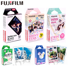 цены Original Fujifilm 10 sheets Stars STRIPE TSUM Black frame Minion Instant Film photo paper for Instax Mini 8 7s 25 50s 90 9 SP-1