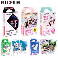 Original Fujifilm 10 sheets Stars STRIPE TSUM Black frame Minion Instant Film photo paper for Instax Mini 8 7s 25 50s 90 9 SP-1