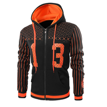 цена на 2018 New Fashion Men's Brand Hoodie Casual Men's Hooded Sweatshirt High Quality Zip-Striped Print Hooded Jacket Men's Hoody