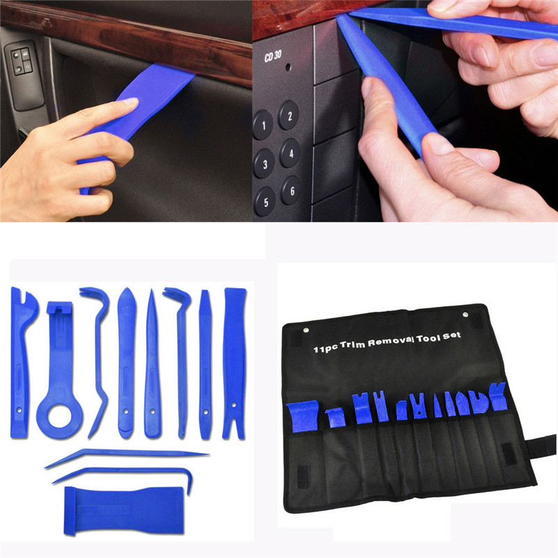 New arrival 2017 Car-styling 11 Car Trim Door Panel Removal Molding Set Kit Pouch Pry Tool Interior Van DIY Auto tools