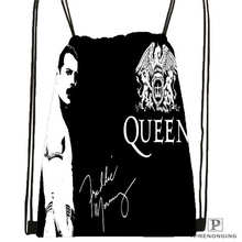 Custom Queen Band  Drawstring Backpack Bag Cute Daypack Kids Satchel (Black Back) 31x40cm#180611-01-05