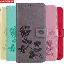 Двойной кожаный чехол с розой, подходит для Xiaomi Mi A2 Lite, A1, Redmi 5 Plus, 6A, 6 Pro, S2, Note 5 Pro, 5A, Prime Note 4, 4X, 4A, 3S, Pocophone F1, Funda