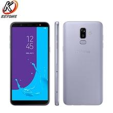 100% nowy Samsung Galaxy J8 J810F DS telefon komórkowy 6.0 cal 4GB RAM 64GB ROM Octa Core podwójny tylny aparat Android linii papilarnych telefon