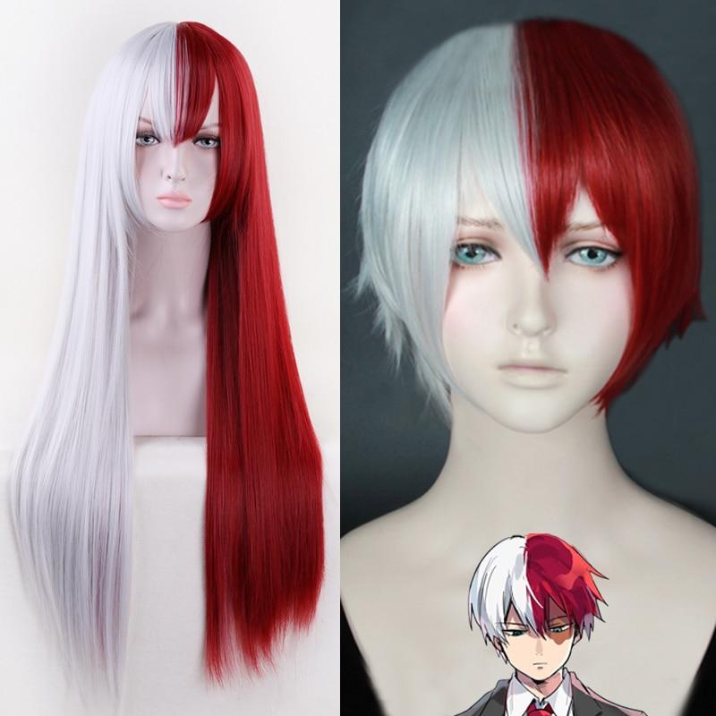 My Hero Academia Todoroki Shouto Half White Half Red Cosplay Short Wig Unisex
