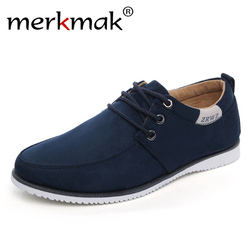 New 2018 Autumn Spring Men Shoes Casual Leisure Male Footwear Fashion Men's Flats Suede Leather Flat Shoes Men Comfortable Shoe