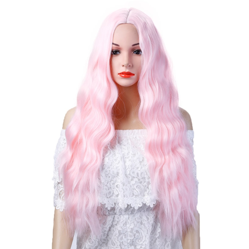 Long black Hair Wigs African American Kinky Curly Wigs For Women Heat Resistant Synthetic Fake Hair Pieces JINKAILI