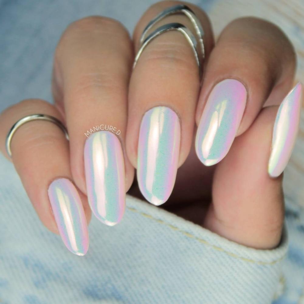 0,2g Chrom Pulver Nail Art Chrom Pigment Meerjungfrau Pulver Staub Fee Staub Maniküre Nagel Glitter Dekoration