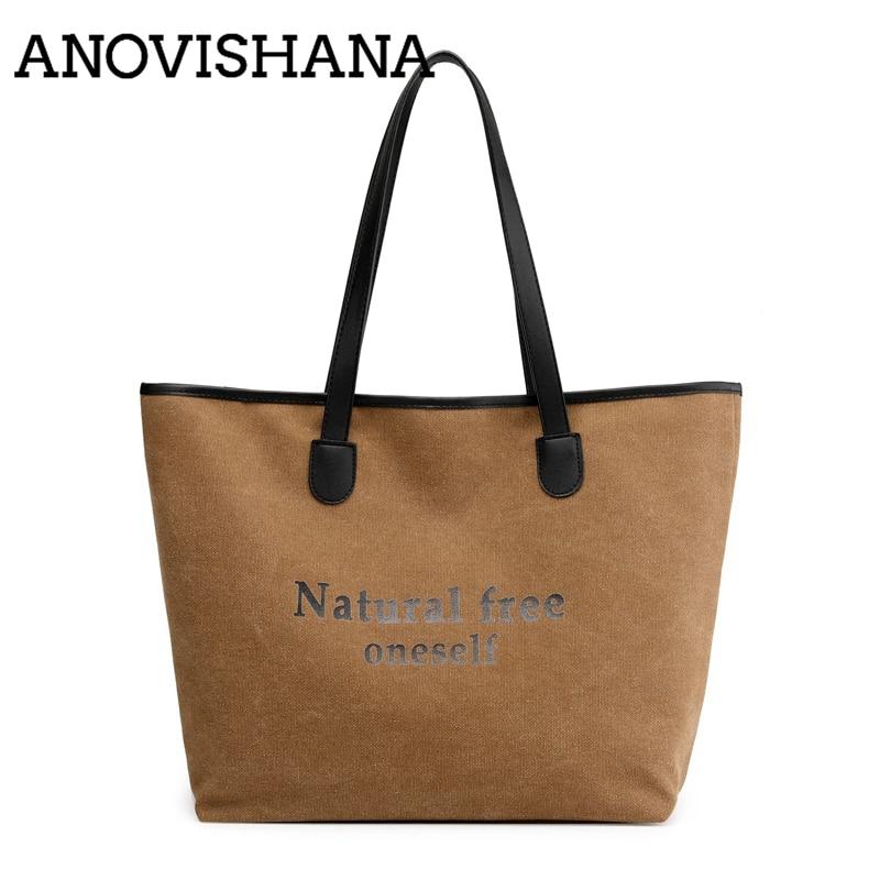 5cdab262c5b8 ANOVISHANA лето женские сумки для покупок повседневные сумки мягкий холст  большой емкости мульти-карман Винтаж