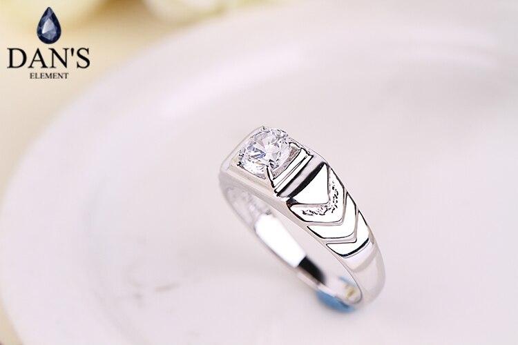 435905c81 دان عنصر جديد بيع العلامة التجارية الحقيقي النمساوي بلورات الأزياء خواتم  للرجال خاتم الزواج # RG90776