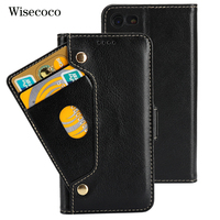 Genuine Leather Phone Cases For Iphone 8 7 Case capinha Luxury Flip Wallet Cradit Card Holder Book Cover For Iphone8 iphone7 87