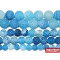 Бесплатная доставка натуральный камень Мороз Краб синий Агаты круглые свободные бусины 6 8 10 12 мм выберите размер для изготовления ювелирных изделий - фото
