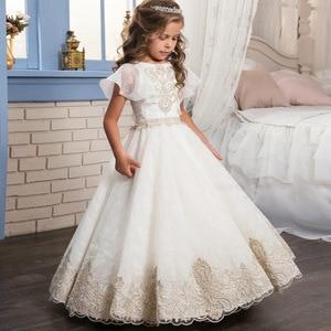Image 3 - Meisjes Eerste Communie Jurken Voor Meisjes Bloem Meisje Jurk Voor Bruiloften Prom Jurken Voor kids Kinderen Baby Elegante Kostuum